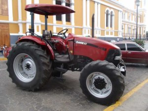 A very modern, very out-of-place tractor