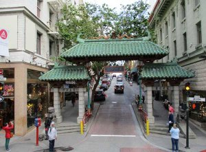 Dragon Gate, at the entrance of Chinatown