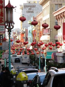 View of Chinatown with its lanterns