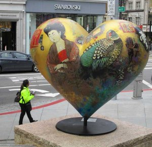 A Japanese-influenced heart at Union Square near our Hop on/Hop off bus stop.