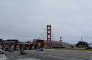 The Golden Gate Bridge, from the tour bus